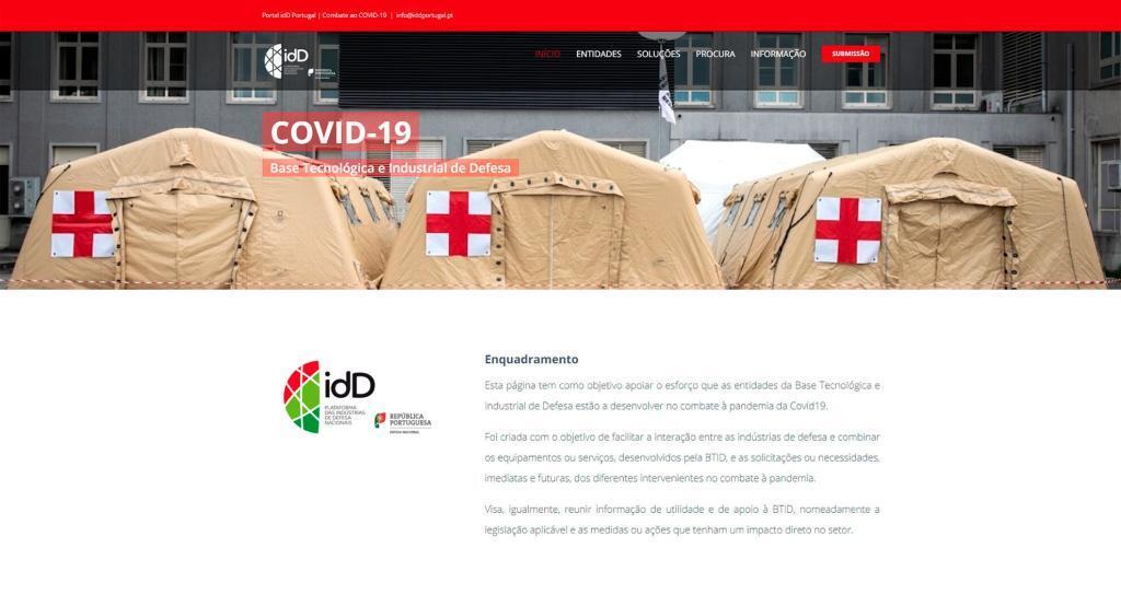 Portal idD Portugal | Combate ao COVID-19