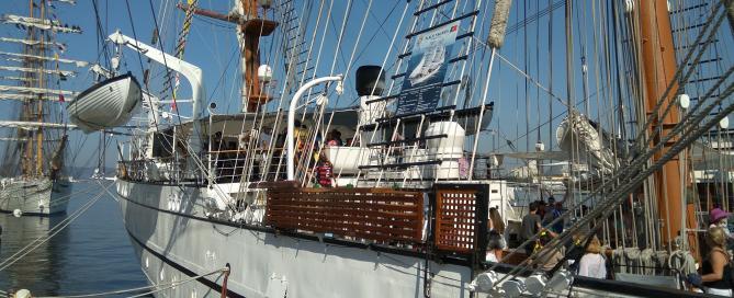 Empresas portuguesas de Defesa apresentam-se no Brasil a bordo do navio-escola Sagres